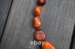 Collier D'ambre Naturel Antique Du Danemark Ambre Balte 54g
