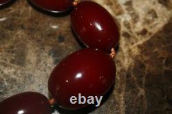 Collier De Perles À L'orange Cerise Antique 45 Grammes