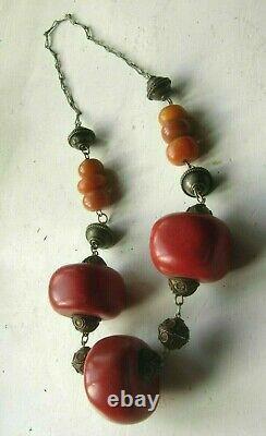 Collier De Perles Copales Antiques Touaregs Berbères Marocaines