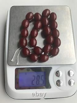 Collier Old/antique Bakelite Cherry''amber'' (28.5 G.) 210e