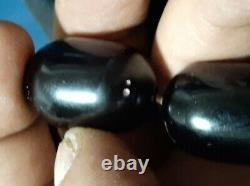 Faturan Énorme Antique Pressee Noir Bakélite Cerise Véritable Vignes Amber 339gram
