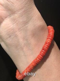 Old Natural Undyed Blood Bracelet De Corail Rouge Et L'ambre Nationale De La Baltique