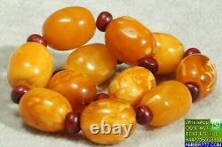 Première Classe Antique Baltic Marble Red Color Amber Bracelet Fedex Shipping