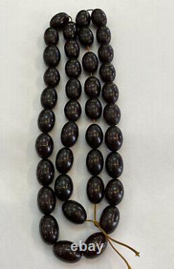 Très Rare Cerise Rouge Antique Ambre Faturan Bakelite Perles De Prière Tasbih