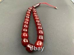 Véritable Antique Cherry Amber Bakélite Faturan Kehribar Perles De Prière