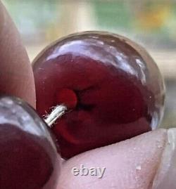 Vieille Cerise Antique Ambre Grandes Perles De Prière 101grams Faturan