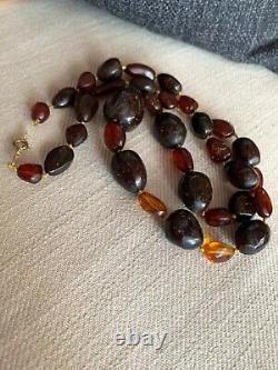 Vieille Cerise Antique Perles Ambres Naturelles Non Traitées