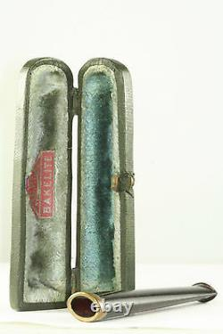 Vintage Antique Porte-cigarette Cerise Amber Bakelite Dorée De 3 Pouces