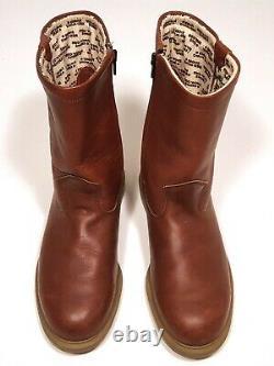 Vintage Red Wing Pecos Boots 1985 Oro Russet Zipper Boot Avec Super Sole 9e D'ambre